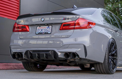 BMW F90 M5 Vacuumed Dry Carbon Fiber M Performance Style Rear Diffuser