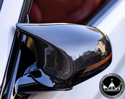 BMW F87 M2 Competition Vacuumed Dry Carbon Fiber Mirror Cover Replacements