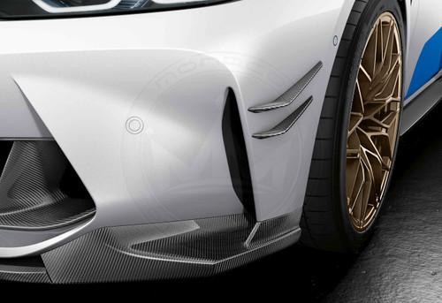 BMW G80/G82/G83 M3 M4 Carbon Fiber M Performance Front Bumper Canards