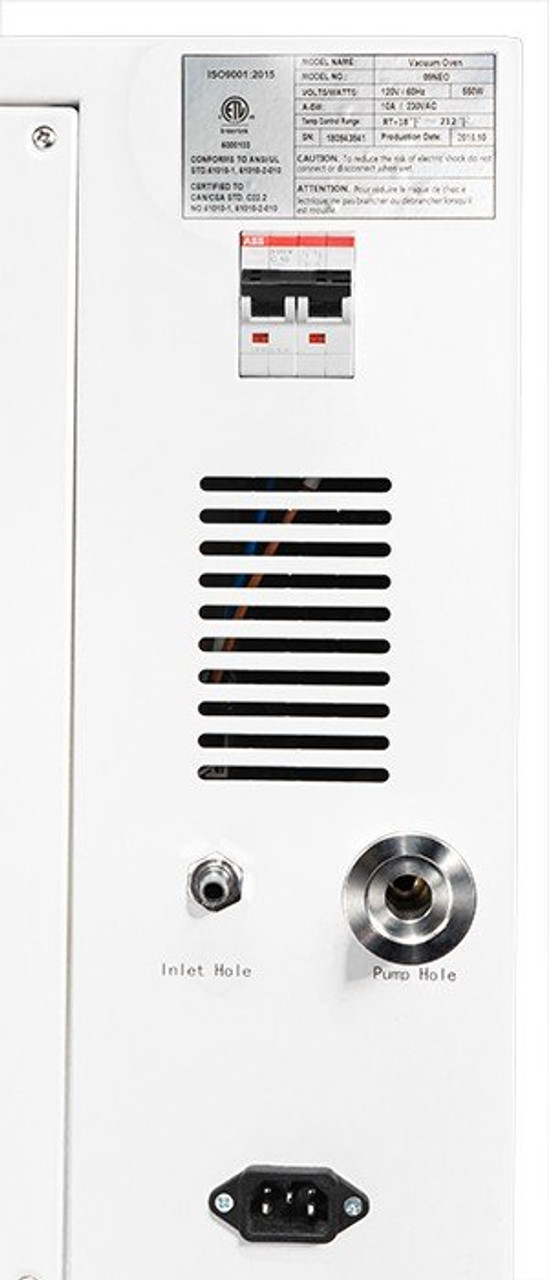 0.9CF BVV Neocision Certified Lab Vacuum Oven - 5 Wall Heating, LED's, 8 Shelves Standard