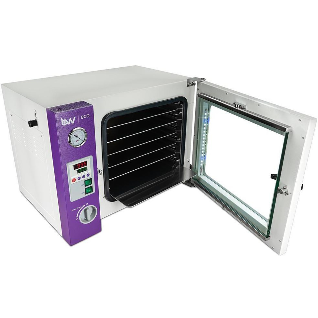 1.9CF ECO Vacuum Oven - 4 Wall Heating, LED display, LED's - 5 Shelves Standard