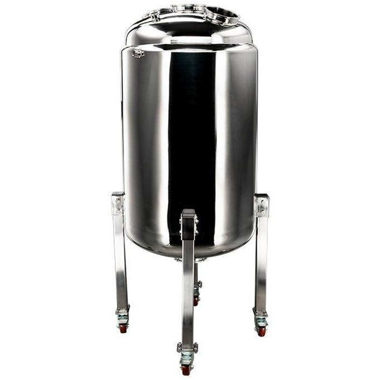 300L Jacketed Stainless Steel Collection Vessel with Locking Casters