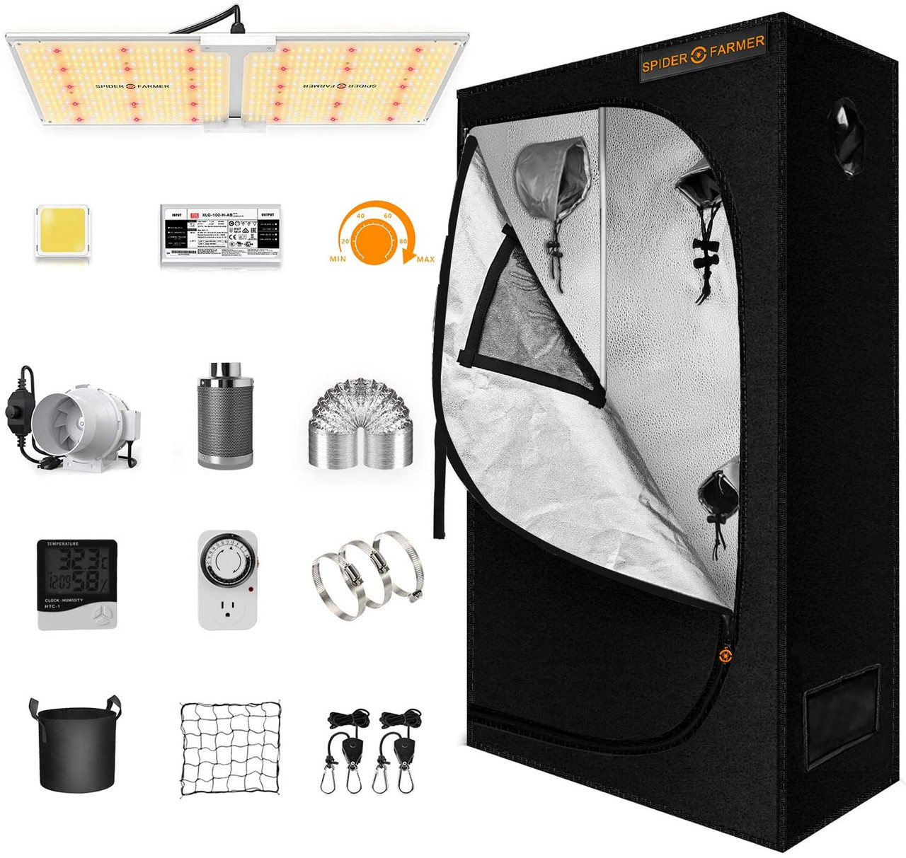 Spider Farmer Complete Grow Tent Kit -SF2000