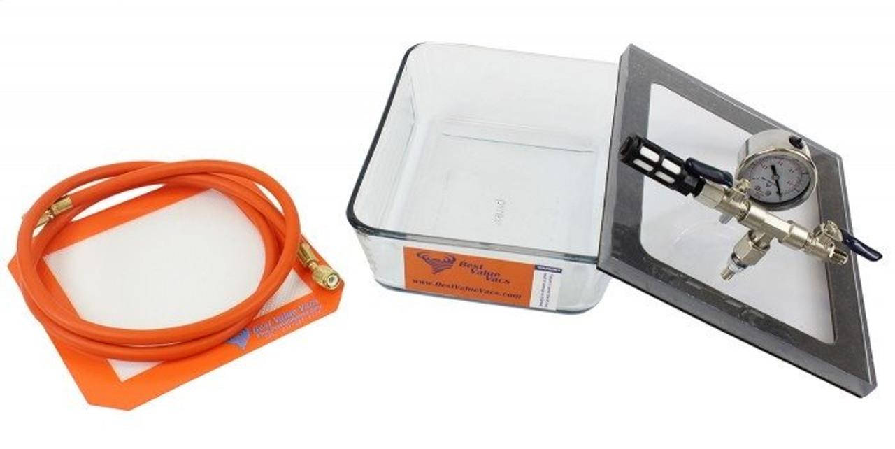 2.75 Quart Pyrex Vacuum Chamber - Best Value Vacs