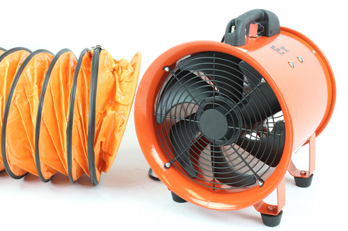 "8"" Ignition-Resistant Centrifugal Fan w/ Ducting"