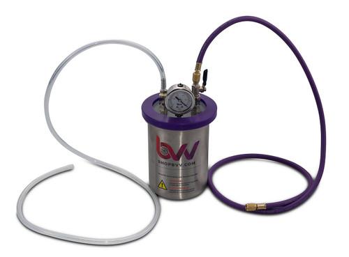 2 Quart Stainless Steel Resin Trap Vacuum Chamber