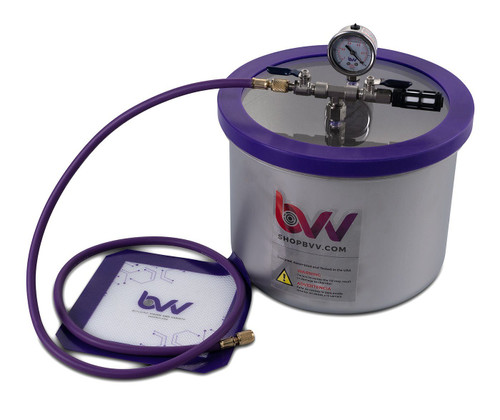 3 Gallon WIDE Stainless Steel Vacuum Chamber - Best Value Vacs