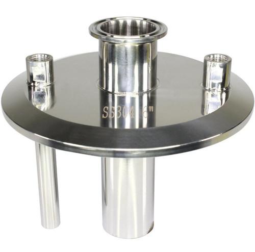 """6"""" x 1.5"""" x (2) 1/4"""" FNPT Tri-clamp Endcap Terp"""