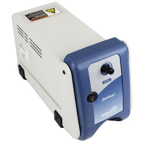Welch 0.9CFM Dry Fast 2 Head PTFE Diaphragm Vacuum Pump