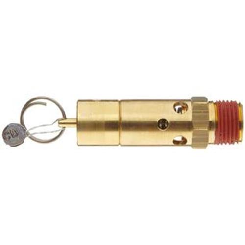 """ASME 250 PSI Brass Safety Valve - 1/2"""" MNPT"""