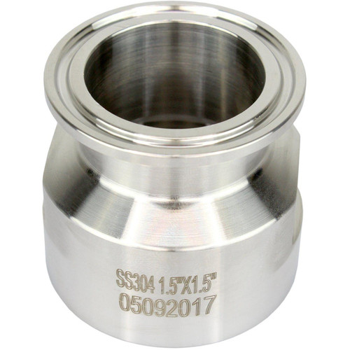 "1.5"" NPT x 1.5"" Tri-Clamp Reducing Adapter"