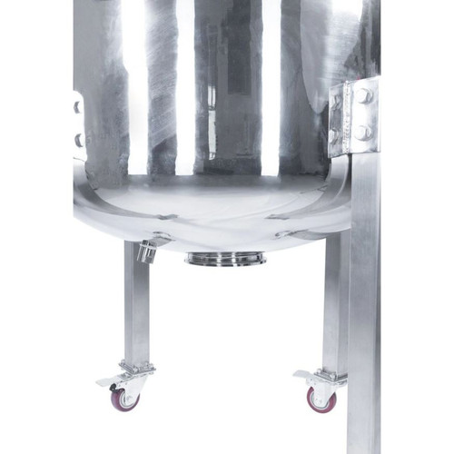 150L 304SS Jacketed Collection Vessel with Locking Casters
