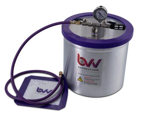 "Mini Lab Pack 3 - 3 Gallon Aluminum Vacuum Chamber;  3CFM VE115 Pump; 9"" Heat Pad"