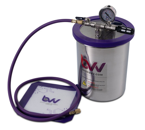"Mini Lab Pack 2  - 1.5 Gallon Stainless Steel Vacuum Chamber;  3 CFM  VE115 Pump;   6"" Heat Pad"