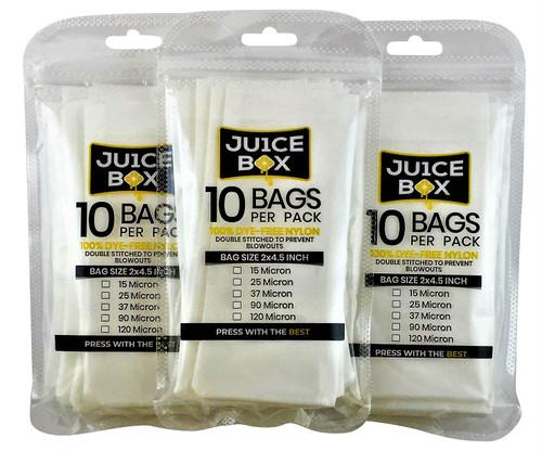 """Rosin Bags (2"""" x 4.5"""" - 10PK) (Ju1ce Box)"""