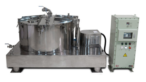 475L Jacketed Stainless Steel Centrifuge with Explosion Proof Motor and Siemens Controller - 150Lbs Max Capacity