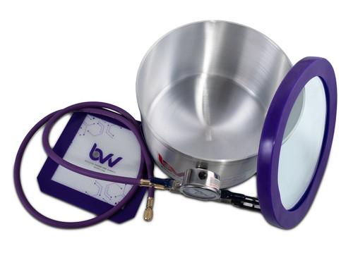 2 Gallon Pot Aluminum Vacuum Chamber- Glass Vac