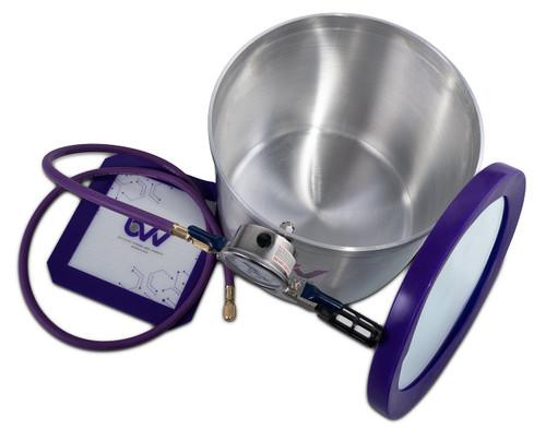 5 Gallon Aluminum Vacuum Chamber - Glass Vac