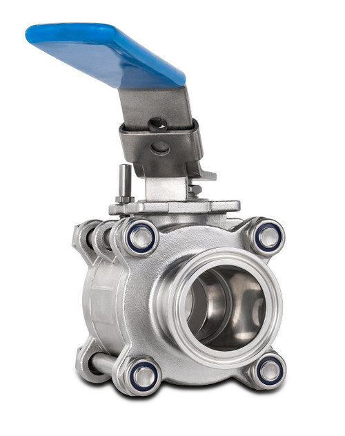 Tri-Clamp Ball Valve - Nitrogen Tested (316L SS)