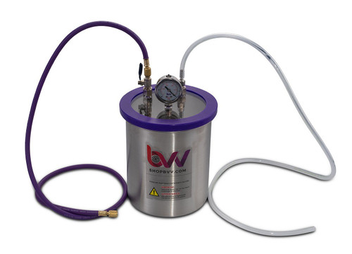 1.5 Gallon Stainless Steel Resin Trap Vacuum Chamber