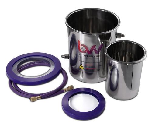 1.5 Gallon (2 Quart Tank) Dry Ice, Liquid Nitrogen Cold Trap