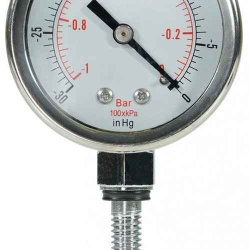 Glycerine Filled Vacuum Gauge Custom, For BVV Chamber Lids Only
