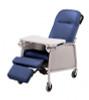 Lumex 3-Position Recliner Geri Chair shown in Royal Blue 574G454.