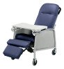 Lumex 3-Position Recliner Geri Chair shown in Imperial Blue 574G432.