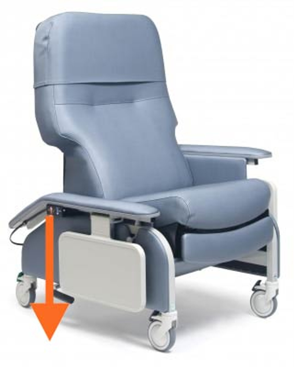 Excellent Lumex Deluxe Clinical Recliner With Drop Arms Beatyapartments Chair Design Images Beatyapartmentscom
