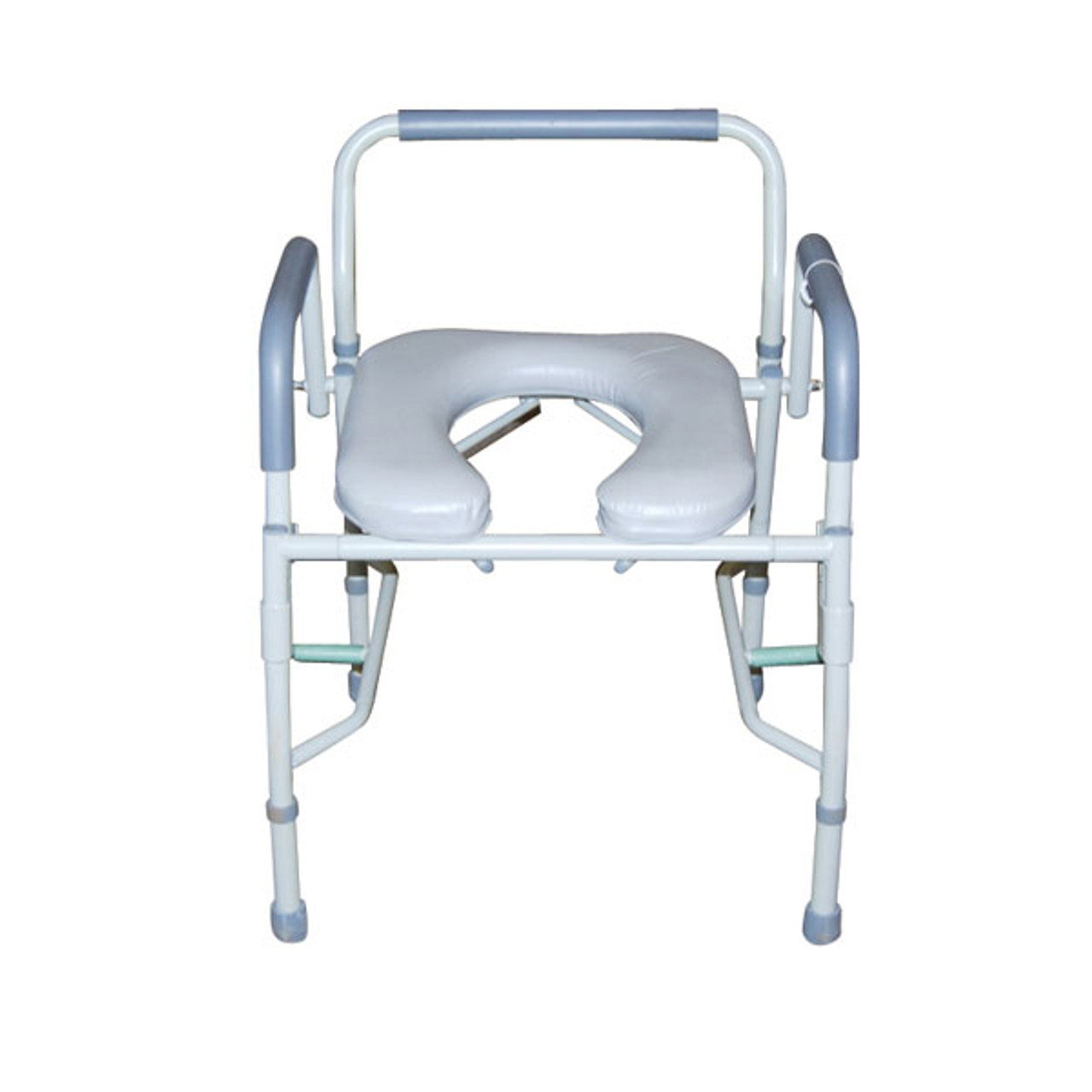 Astonishing Drive Medical Steel Drop Arm Bedside Commode With Padded Seat Arms Ibusinesslaw Wood Chair Design Ideas Ibusinesslaworg