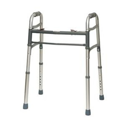 "Deluxe Two-Button Folding Walker, 25"" to 32"" Height"