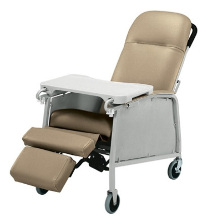 Lumex 3-Position Recliner Geri Chair shown in Warm Taupe 574G409.