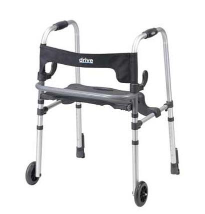 Drive Clever-Lite LS Walker Rollator with Seat & Push Down Brakes