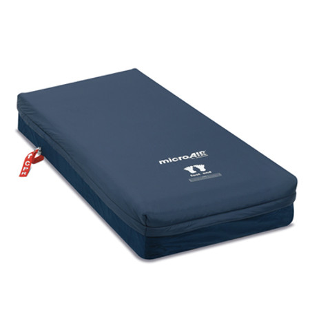 The Invacare microAIR MA55 provides a temperate climate for patients with its ability to circulate air through On-Deman Low Air Loss within the mattress.
