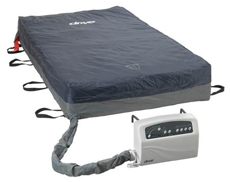 "The Med-Aire Plus Bariatric Alternating Pressure Mattress System 14054 is a complete system with 54""W x 80""L x 10""H mattress with 12 LPM (liters per minute) pump featuring cycle times of 10, 15, 20 and 25 minutes."