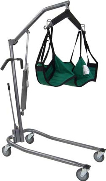 The Deluxe Silver Vein finish hydraulic patient lift by Drive (sling sold separately)