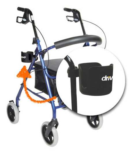 Universal Cup Holder for Rollator, Walker, Wheelchair or Transport Chair