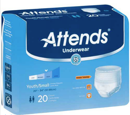 Attends Youth Pull On Underwear - Heavy Absorbency