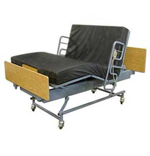 """Big Boyz Queen's Pride from NewLeafHomeMedical.com is available in widths 38"""", 48"""" 54"""" and 60"""". (Shown with optional Half-Rails)"""