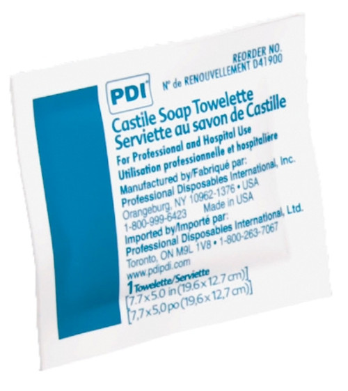 PDI Individual Packet Coconut Oil-Based Soap Solution- Scented (Box of 100)