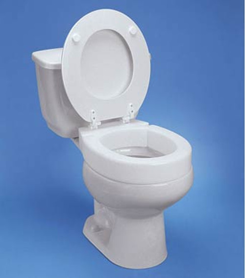 Maddak Tall-ette Hinged Elevated Toilet Seat for Standard Commodes - 3' H, 350 lbs Capacity