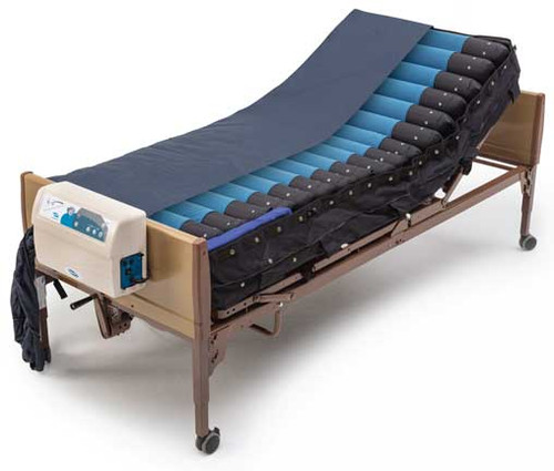 The Invacare microAIR MA800 mattress and blower with Pulse Setting is a true low air loss mattress system that helps manage skin moisture to avoid maceration and maintain a dryer environment for pressure ulcer healing in the treatment of Stage I to Stage IV pressure ulcers. *Bed shown sold separately.