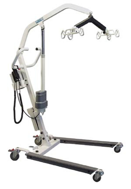 The Lumex LF1050 Easy Lift Patient Lifting System is constructed with Heavy-gauge steel and features a Six-Point spreader bar that with 360° rotation and tilts to enhance comfort and safety. This lift can be used with six-point, four-point, or two-point slings.