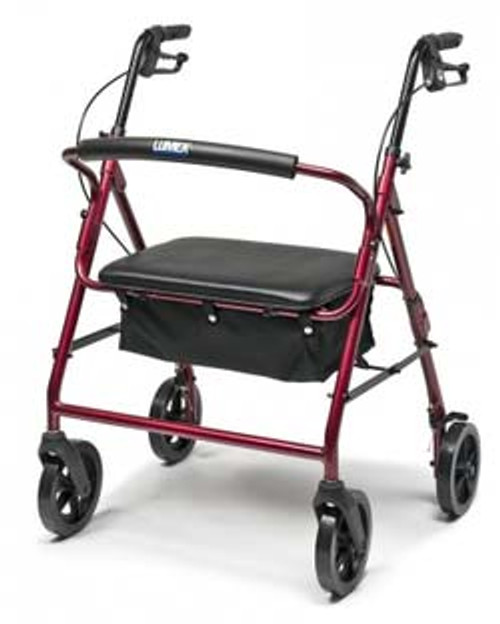 "Lumex Walkabout ConTour Imperial Rollator - 34"" to 39"" Handle Height"