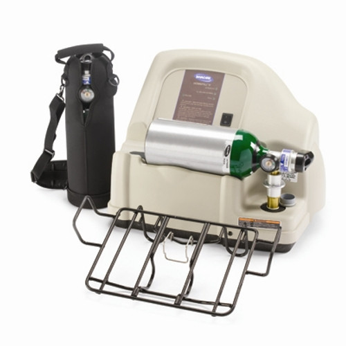 The Invacare HomeFill complete oxygen system has revolutionized ambulatory oxygen by allowing patients to fill their own high-pressure cylinders from a concentrator. The HomeFill is a multi-stage pump that simply and safely compresses oxygen from a specially equipped Invacare 5-liter concentrator into oxygen cylinders.
