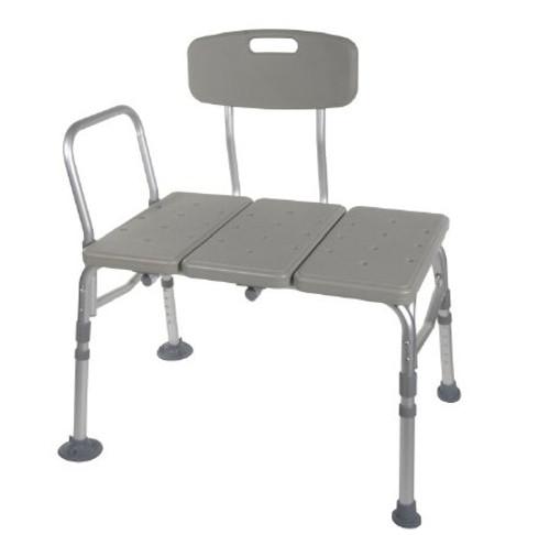 McKesson Bathtub Transfer Bench with Reversible Backrest