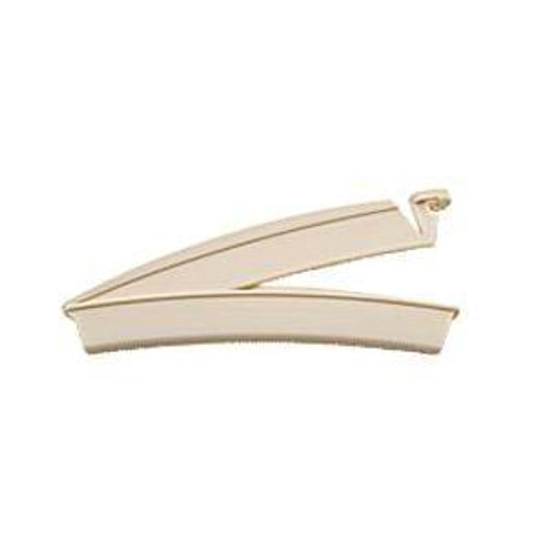 Drainable Pouch Clamp, Beige, Plastic