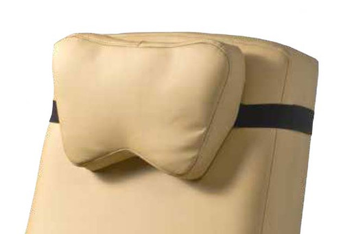 FR5659x Universal Head Pillow with its adjustable Velcro strap system fits on almost any model of geri chair / clinical care recliner. (shown in Vintage Gold FR5659401US)