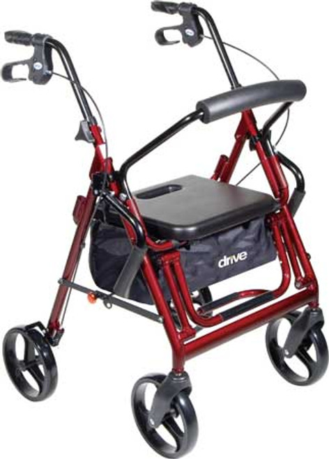 The Drive Duet positioned for use as a Rollator.