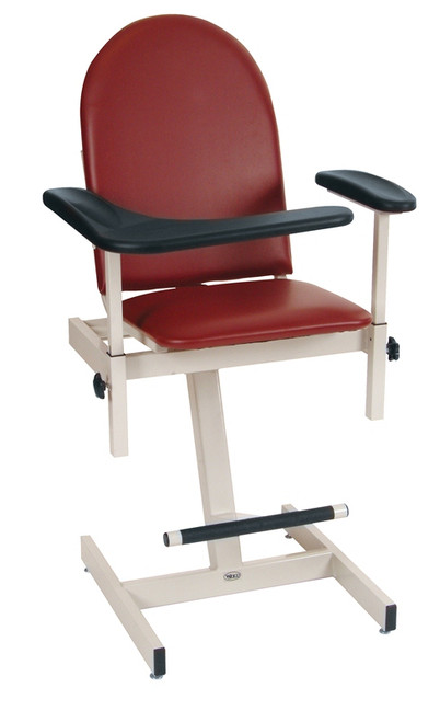 Stupendous Winco Padded Blood Draw Phlebotomy Chair Newleaf Home Medical Theyellowbook Wood Chair Design Ideas Theyellowbookinfo